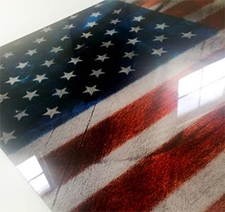 Reverse-Print Acrylic/Plexiglas Art