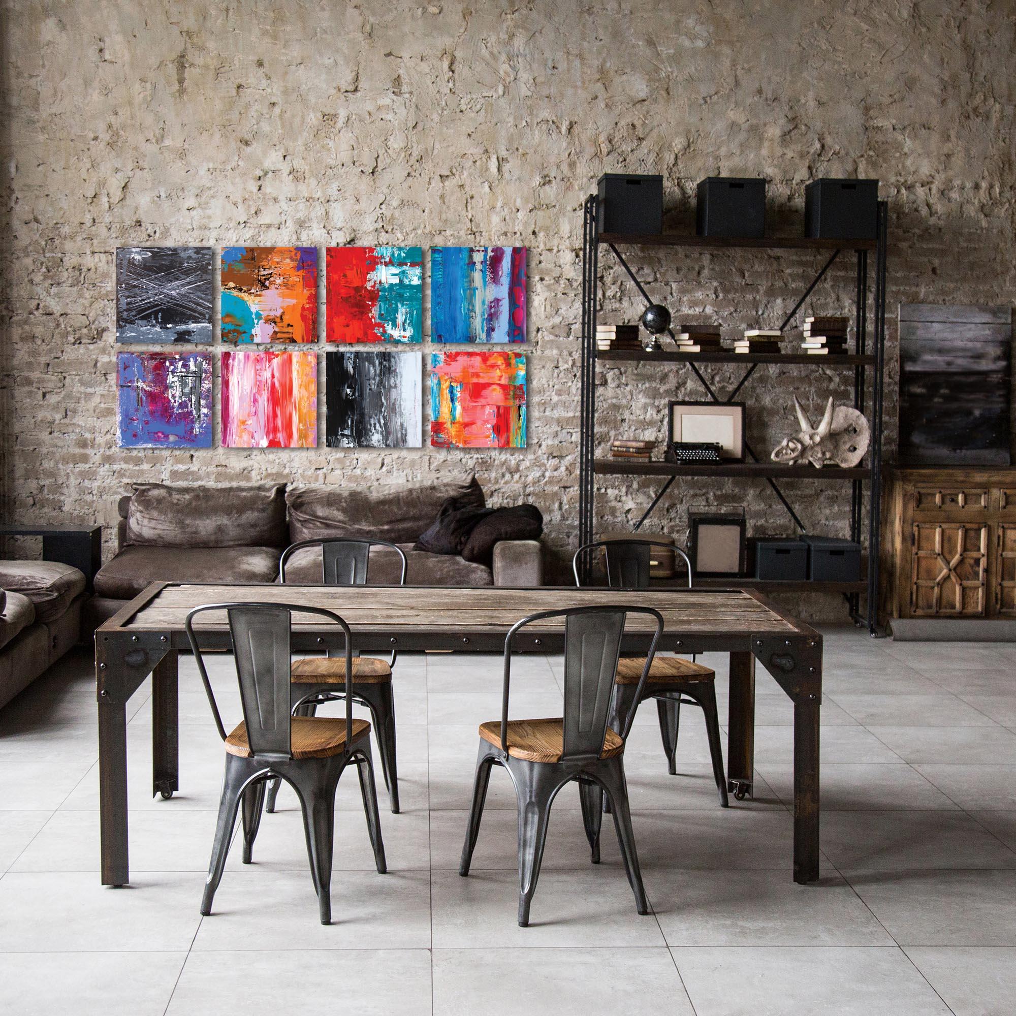 Urban Windows Large By Celeste Reiter Abstract Wall Art On Metal Or Plexigl