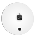 Grayout White Circle Clock Large by Adam Schwoeppe Contemporary Clock on Aluminum Polymetal - Alternate View 3