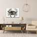 Crab Pot by Adam Schwoeppe Animal Silhouette on White Metal - Lifestyle View