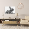 Butterfly Flowers Gray by Adam Schwoeppe Animal Silhouette on White Metal - Lifestyle View