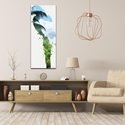 Parrot Tropics by Adam Schwoeppe Animal Silhouette on White Metal - Lifestyle View