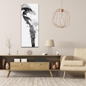 Parrot Tropics Gray by Adam Schwoeppe Animal Silhouette on White Metal - Lifestyle View