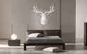 WINTER BUCK - 36x36 in. Silver & White Deer Cut-Out - Lifestyle Image