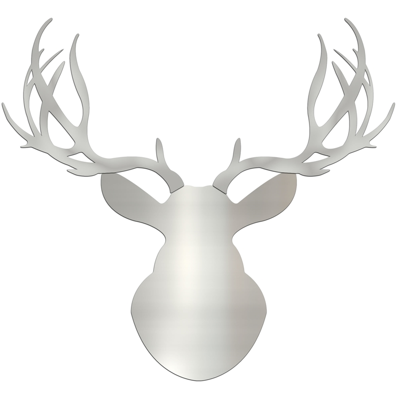 SILVER BUCK - 36x36 in. Metallic Deer Cut-Out
