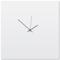 Whiteout Grey Square Clock Large 23x23in. Aluminum Polymetal
