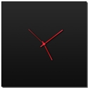 Blackout Square Clock Large by Adam Schwoeppe - Minimalist Modern Black Metal Clock