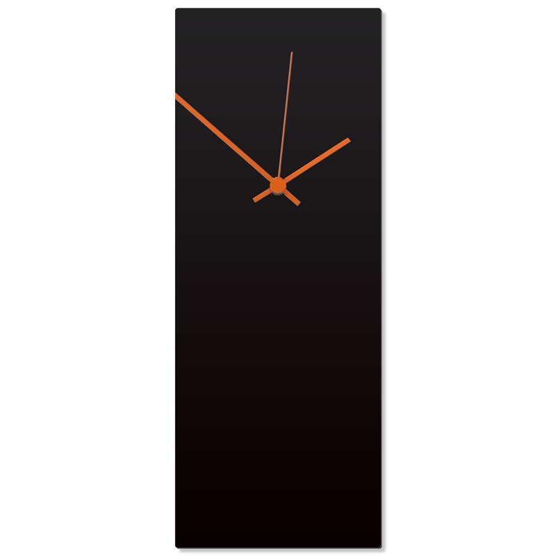 Blackout Orange Clock Large 8.25x22in. Aluminum Polymetal