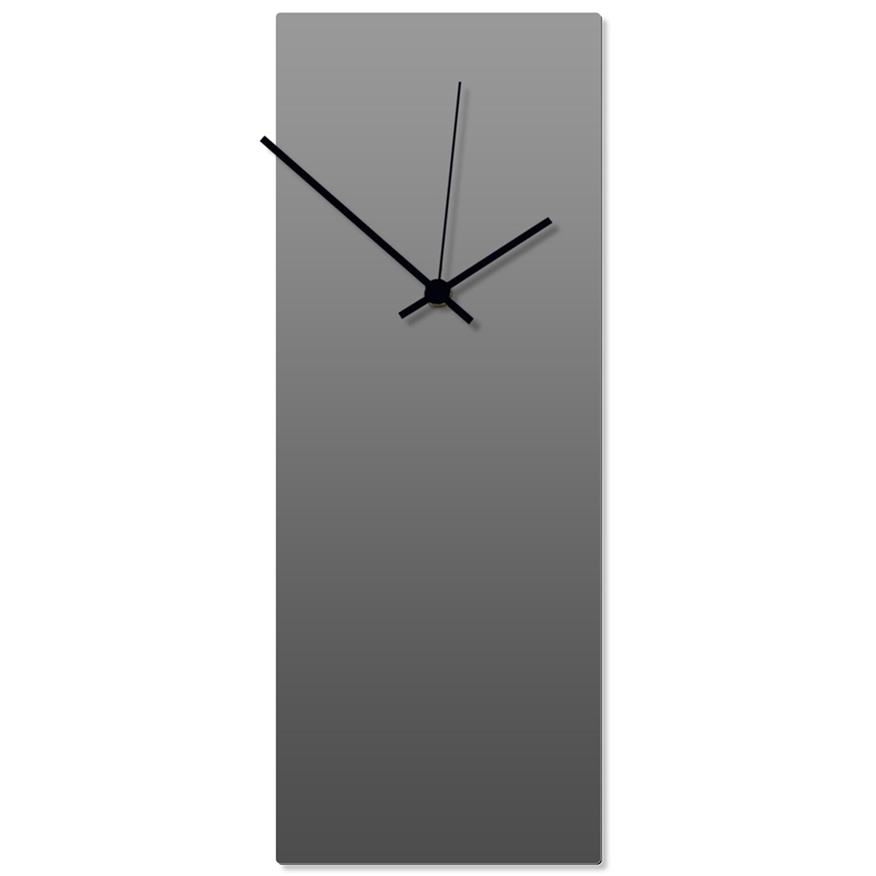 Grayout Black Clock Large 8.25x22in. Aluminum Polymetal