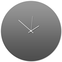 Grayout White Circle Clock Large 23x23in. Aluminum Polymetal