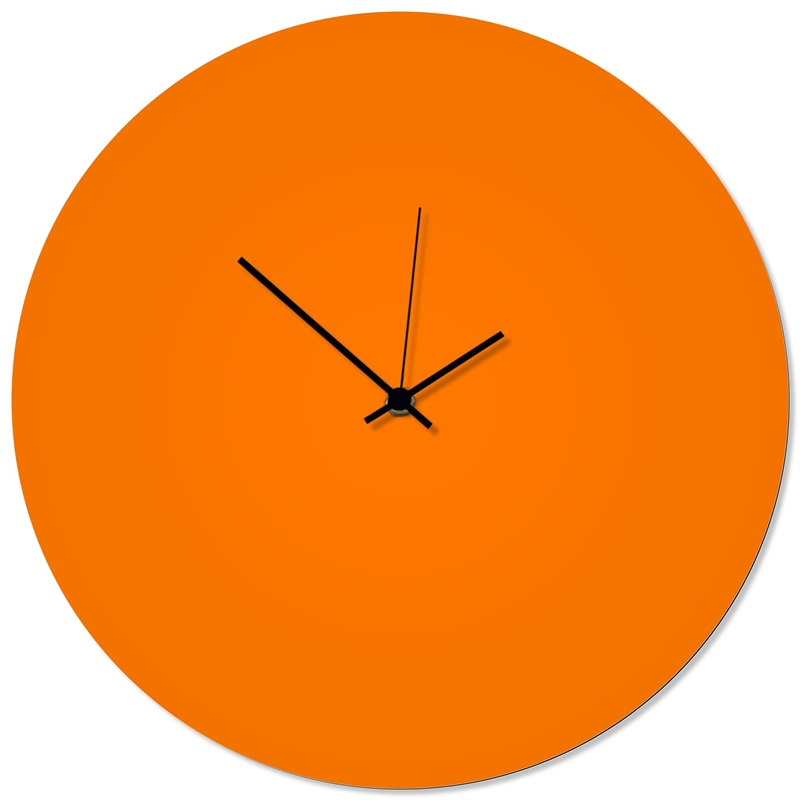 Orangeout Black Circle Clock 16x16in. Aluminum Polymetal