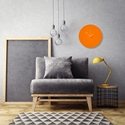 Orangeout White Circle Clock by Adam Schwoeppe Contemporary Clock on Aluminum Polymetal - Alternate View 1