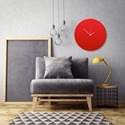 Redout White Circle Clock Large by Adam Schwoeppe Contemporary Clock on Aluminum Polymetal - Alternate View 1