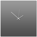Grayout White Square Clock Large 23x23in. Aluminum Polymetal