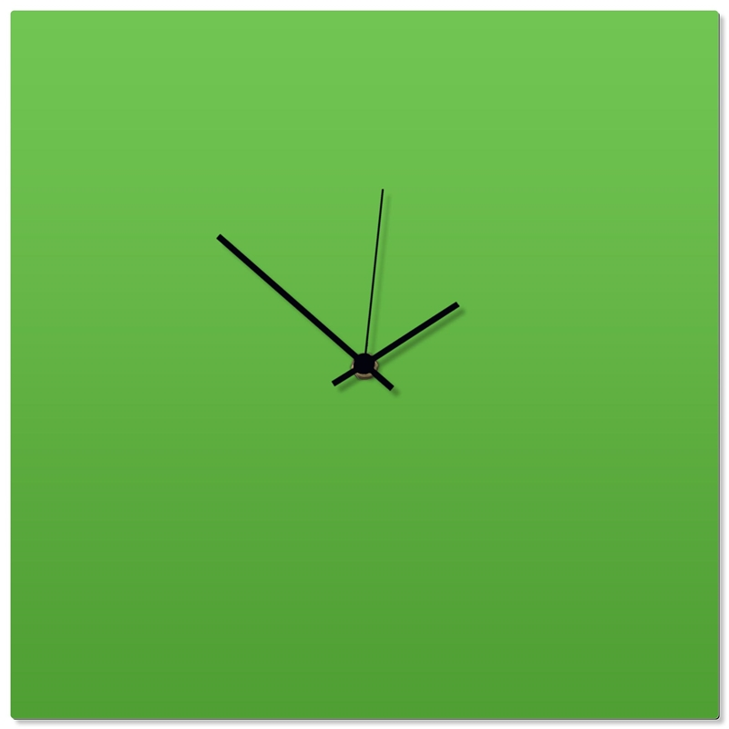 Greenout Black Square Clock 16x16in. Aluminum Polymetal