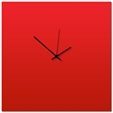 Redout Black Square Clock 16x16in. Aluminum Polymetal