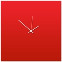 Redout White Square Clock Large 23x23in. Aluminum Polymetal