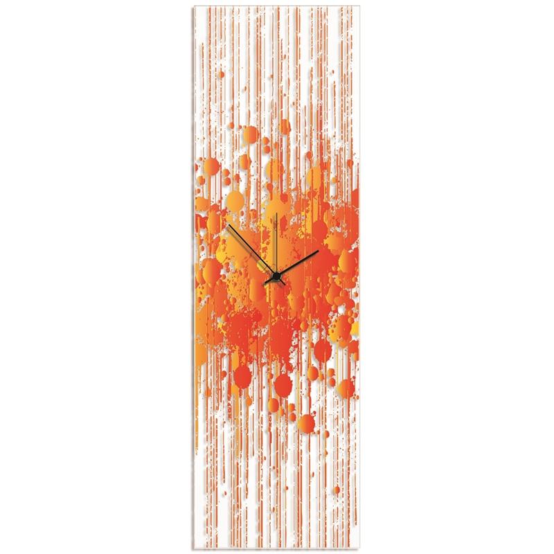 Warm Paint Splatter Clock By Adam