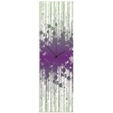 Throwback Paint Splatter Clock 9x30in. Plexiglass