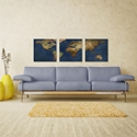 1800s World Map Triptych Large 70x22in. Metal or Acrylic Colonial Decor - Image 3