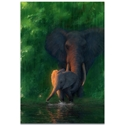 Elephant Wall Art 'Carefree Calf' - African Wildlife Decor on Metal or Acrylic - Image 2