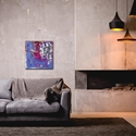 Abstract Wall Art 'Urban Life 7' - Urban Decor on Metal or Plexiglass - Lifestyle View