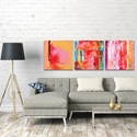 Abstract Wall Art 'Urban Triptych 3 Large' - Urban Decor on Metal or Plexiglass - Lifestyle View