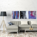 Abstract Wall Art 'Urban Triptych 4 Large' - Urban Decor on Metal or Plexiglass - Lifestyle View