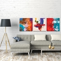 Abstract Wall Art 'Urban Triptych 5 Large' - Urban Decor on Metal or Plexiglass - Lifestyle View
