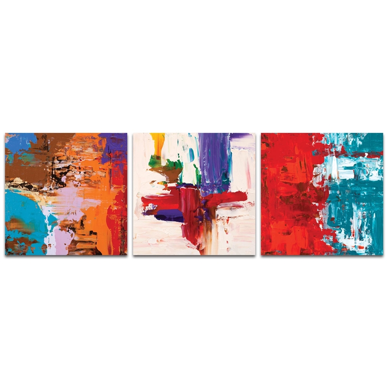 Abstract Wall Art 'Urban Triptych 5 Large' - Urban Decor on Metal or Plexiglass