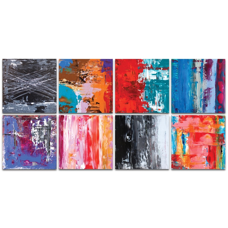 Abstract Wall Art 'Urban Windows Large' - Urban Decor on Metal or Plexiglass