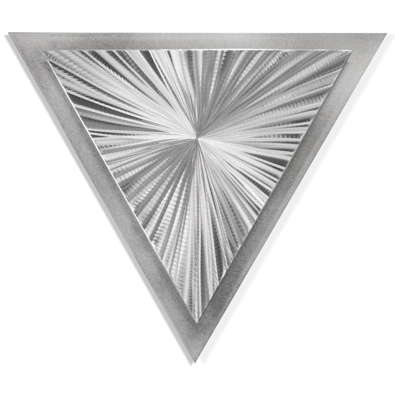 Helena Martin 'Starburst Angle' 15in x 13in Modern Metal Art on Ground Metal