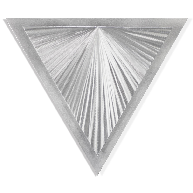 Helena Martin 'Shining Angle' 15in x 13in Modern Metal Art on Ground Metal