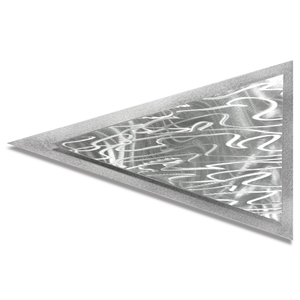 Helena Martin 'Currents Arrow' 24in x 15in Modern Metal Art on Ground Metal