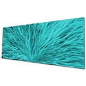 Blooming Teal by Helena Martin - Original Abstract Art on Ground and Painted Metal - Image 3