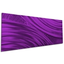 Moment of Impact Purple by Helena Martin - Original Abstract Art on Ground and Painted Metal - Image 3