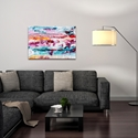 Abstract Wall Art 'Cracks 2' - Urban Decor on Metal or Plexiglass - Lifestyle View