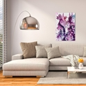 Abstract Wall Art 'Cracks 3' - Urban Decor on Metal or Plexiglass - Lifestyle View