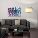 Abstract Wall Art 'Essence 1' - Colorful Urban Decor on Metal or Plexiglass - Lifestyle View