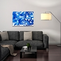 Abstract Wall Art 'Coastal Waters 1' - Colorful Urban Decor on Metal or Plexiglass - Image 3