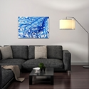 Abstract Wall Art 'Coastal Waters 2' - Colorful Urban Decor on Metal or Plexiglass - Lifestyle View