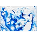 Abstract Wall Art 'Coastal Waters 3' - Colorful Urban Decor on Metal or Plexiglass