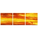 Momentum Triptych 38x12in. Metal or Acrylic Abstract Decor - Image 2