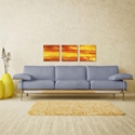 Momentum Triptych 38x12in. Metal or Acrylic Abstract Decor - Lifestyle View