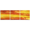 Momentum Triptych 38x12in. Metal or Acrylic Abstract Decor