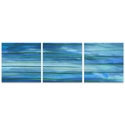 Ocean View Triptych Large 70x22in. Metal or Acrylic Abstract Decor - Image 2