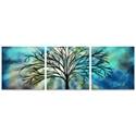 Moonlight Triptych Large 70x22in. Metal or Acrylic Fantasy Decor - Image 2