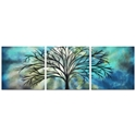 Moonlight Triptych Large 70x22in. Metal or Acrylic Fantasy Decor