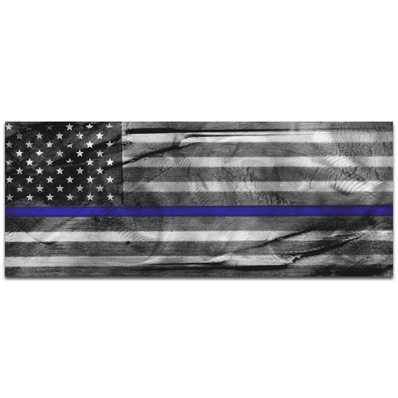 Police Officer Flag 'American Glory Police Tribute' - Policemen Art on Metal or Acrylic
