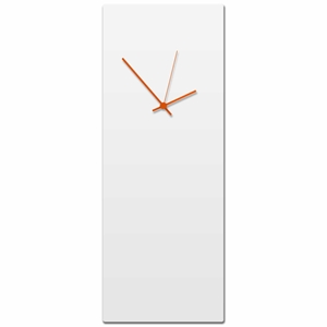 Whiteout Orange Wall Clock Large - Contemporary